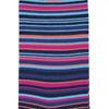 Marcoliani Milano navy, fuschia and aqua multi striped cotton blend socks