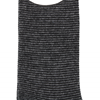 Marcoliani Milano black and grey striped cashmere blend socks