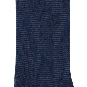 Marcoliani Milanonavy and dark blue striped cashmere blend socks