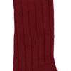 Marcoliani Milano burgundy ribbed cashmere blend socks