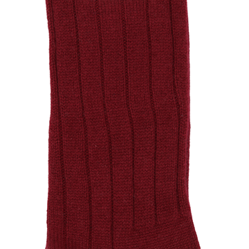 Marcoliani Milano burgundy ribbed cashmere blend socks