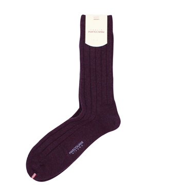 Marcoliani Milano burgundy berry cashmere blend socks