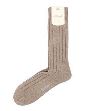 Marcoliani Milano light brown cashmere blend socks