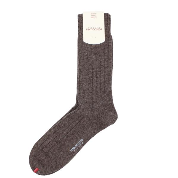 Marcoliani Milano brown cashmere blend socks