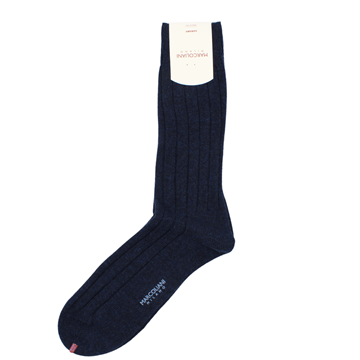 Marcoliani Milano navy blue cashmere blend socks