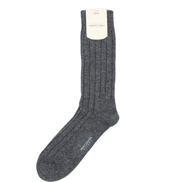 Marcoliani Milano grey cashmere blend socks