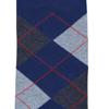 Marcoliani Milanon navy, charcoal and orange argyle cotton blend socks