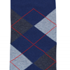 Marcoliani Milanon navy, charcoal and orange argyle cotton blend socks