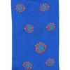 Marcoliani Milano blue and orange sunflower cotton blend socks