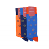 Marcoliani Milano navy and yellow  sunflower cotton blend socks