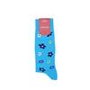 Marcoliani Milano aqua, navy and yellow floral cotton blend socks