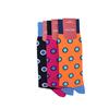 Marcoliani Milano big dots orange, navy and aqua cotton blend socks