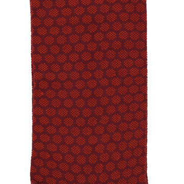 Marcoliani Milano burgundy and orange jacquard dots cotton blend socks