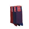 Marcoliani Milano burgundy and orange jacquard dots cotton blend socks