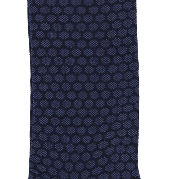 Marcoliani Milanonavy and denim blue jacquard dots cotton blend socks