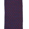 Marcoliani Milano navy and orange jacquard dots cotton blend socks
