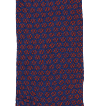 Marcoliani Milano navy and orange jacquard dots cotton blend socks