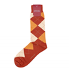 Marcoliani Milanonorange, mustard and beige argyle cotton blend socks