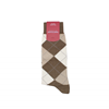 Marcoliani Milano khaki and beige argyle cotton blend socks