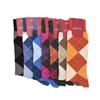 Marcoliani Milano charcoal, orange and burgundy argyle cotton blend socks