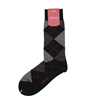 Marcoliani Milano black, grey, orange argyle cotton blend socks
