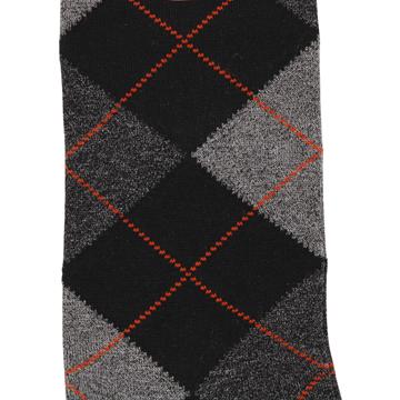 Marcoliani Milano black, grey, orange argyle cotton blend socks