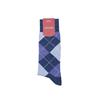 Marcoliani Milano denim blue, light blue royal blue argyle cotton blend socks