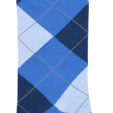 Marcoliani Milano blue, light blue, dark blue argyle cotton blend socks