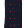 Marcoliani Milano red on navy polka dots cotton socks
