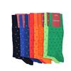 Marcoliani Milano red on navy polka dots cotton socks