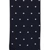 Marcoliani Milano white on navy polka dots cotton socks