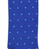 Marcoliani Milano aqua on blue polka dots cotton socks