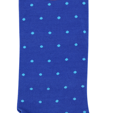 Marcoliani Milano aqua on blue polka dots cotton socks