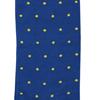 Marcoliani Milano yellow on blue polka dots cotton socks