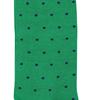 Marcoliani Milano navy on green polka dots cotton socks