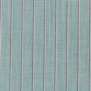 Grey Pinstripes on Green shirt fabric - A48