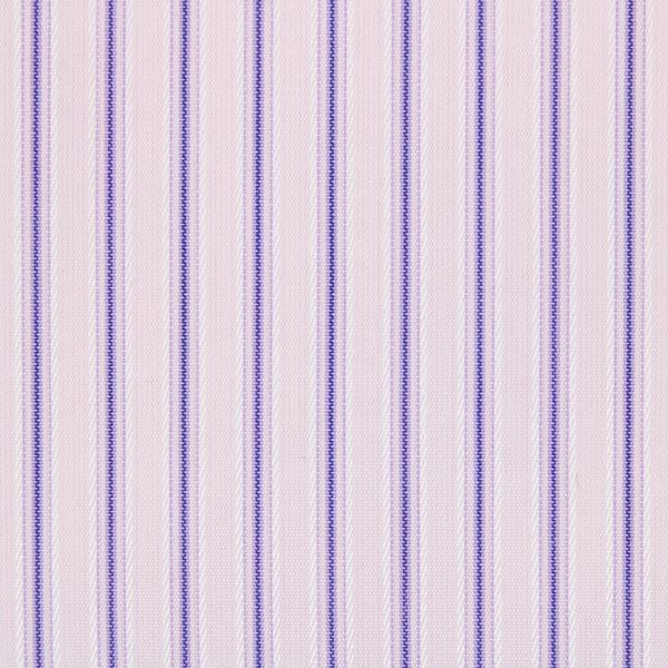 Purple Satin Stripes on Pink shirt fabric A789