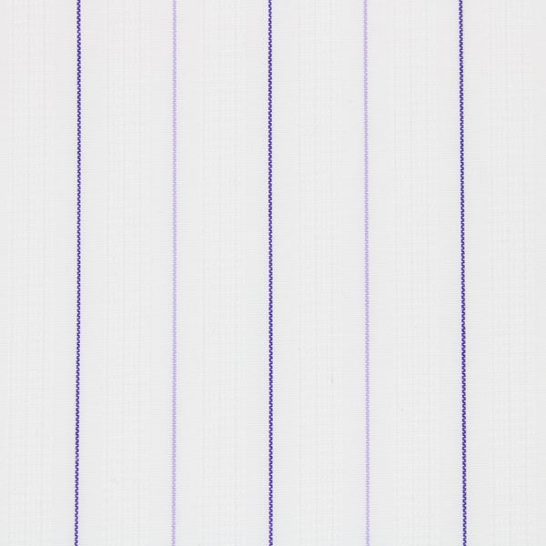 Purple Pinstripes on White Satin shirt fabric G159