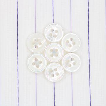 Purple Pinstripes on White Satin shirt fabric G159