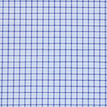 Avellino Navy and Blue Checks on White shirt fabric A1145