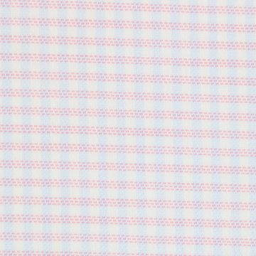 Voile Pink and Blue Checks on White shirt fabric A1143
