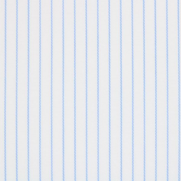Voyage Collection - Blue on White Pinstripes shirt fabric A1091