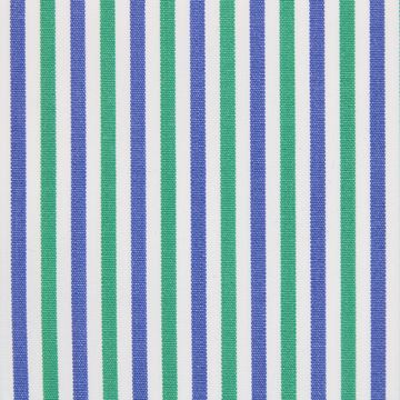 Green and Blue Stripes shirt fabric A914
