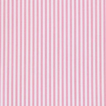 Pink on White Pencil Stripe shirt fabric - A594