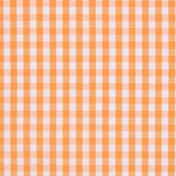 Alumo Orange and White Gingham Checks shirt fabric a883