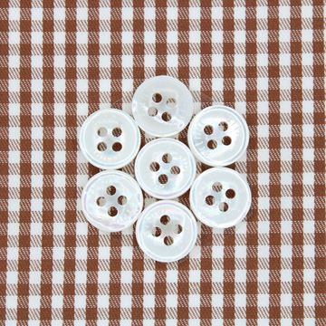 Alumo Brown and White Gingham Checks shirt fabric a911