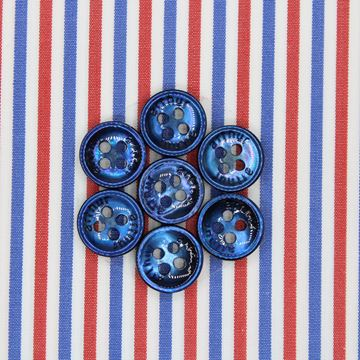 Red and Blue Stripes shirt fabric A887