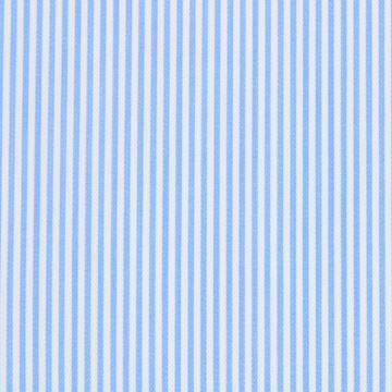 Blue on White Pencil Stripe Twill shirt fabric - G20