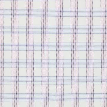 Pink and Blue checks on White shirt fabric G172