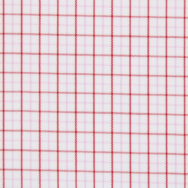 Red and Pink checks shirt fabric G226